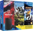 Sony PlayStation 4 (PS4) Slim 500 GB with Horizon Zero Dawn, Drive Club and Ratchet & Clank: Gaming Console