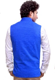 Attitude Works Sleeveless Solid Men's Nehru Jacket Jacket