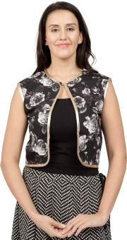Desi Belle Sleeveless Floral Print Women's Jacket