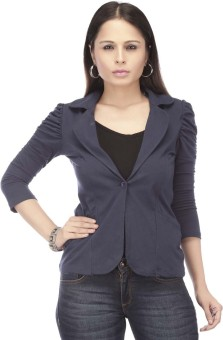 Eliza Donatein By Shoppers Stop 3/4 Sleeve Solid Women's Jacket Jacket