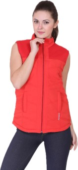 Absurd Warm Sleeveless Solid Women's Quilted Reversible Jacket - JCKE546SHX4HG75W