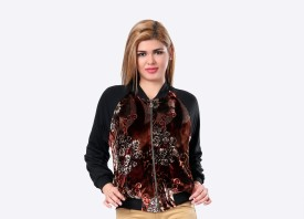 Glam & Luxe Floral Full Sleeve Floral Print Women's Cropped Jacket