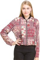 Oxolloxo? Full Sleeve Printed Women's Bomber Jacket - JCKEYX5H2HQW2MYX