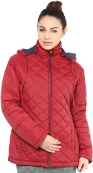 Okane Full Sleeve Self Design Women's Quilted Reversible Jacket