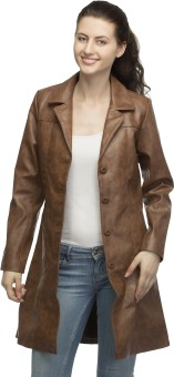 Lambency Full Sleeve Solid Women's Long Jacket