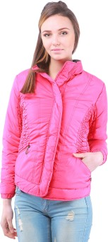Zupe Casual Full Sleeve Self Design Women's Quilted Jacket