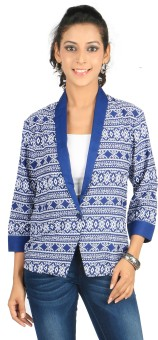 Eliza Donatein By Shoppers Stop 3/4 Sleeve Printed Women's Denim Jacket