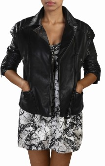 Theo&Ash Juhu Black Full Sleeve Solid Women's Quilted Jacket