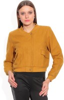 Hermosear Full Sleeve Solid Women's Bomber Jacket