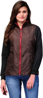 Yepme Brown Sleeveless Solid Women's Non-Quilted Jacket