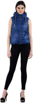 Madame Royale Sleeveless Solid Women's Jacket - JCKECRY76Y3UHGRN