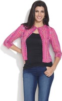 Color Cocktail 3/4 Sleeve Solid Women's Jacket