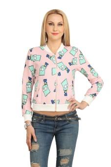 Blithe Full Sleeve Self Design Women's Quilted Linen Jacket