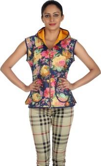 Rajrang Sleeveless Floral Print Women's Quilted Jacket - JCKEAH9U2PGNKSGQ