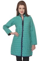 Lavennder Full Sleeve Solid, Printed Reversible Women's Quilted Jacket