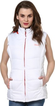 Okane Fashionable Sleeveless Self Design Women's Self Design Jacket Reversible Jacket