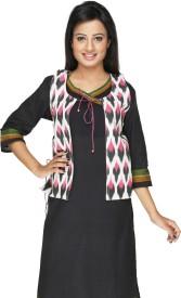 Ecostyle Sleeveless Printed Women's Woven Jacket