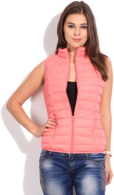 US Polo Sleeveless Solid Women's Jacket - Buy PINK US Polo Sleeveless Solid Women's Jacket Online at Best Prices in India | Flipkart.com