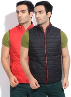 Flying Machine Sleeveless Solid Reversible Men's Reversible Jacket