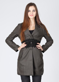 Elle Full Sleeve Checkered Women's Jacket: Jacket
