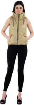 Madame Royale Sleeveless Solid Women's Jacket - JCKECRY746TYGFGW