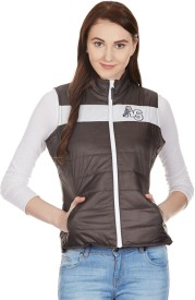 American Swan Sleeveless Solid Women's Jacket