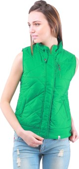 Zupe Fashion Sleeveless Self Design Women's Quilted Jacket