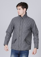 John Players Full Sleeve Striped Men's Quilted Jacket