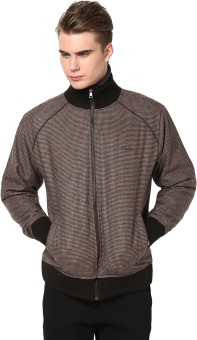 Orewa Fashionable Full Sleeve Self Design Reversible Men's Self Design Jacket Reversible Jacket