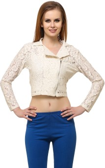 Meee Full Sleeve Solid Women Cropped Jacket