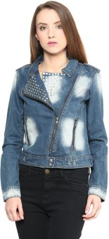 Sf Jeans By Pantaloons Full Sleeve Woven Women's Denim Jacket Jacket - JCKEA3DX5XHZX2ZY
