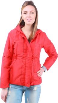 Zupe Metal Zipper Full Sleeve Self Design Women's Quilted Jacket