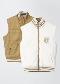 Pepe Sleeveless Solid Men's Quilted Reversible Jacket