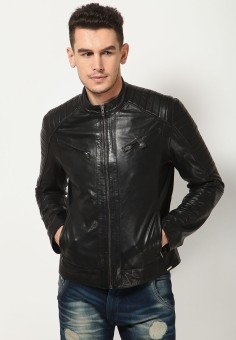 Aditi Wasan Full Sleeve Solid Men's Motorcycle Jacket