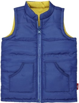 Oye Sleeveless Solid Reversible Boy's Reversible Jacket
