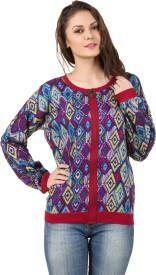 Lili Blank Full Sleeve Printed Women's Jacket