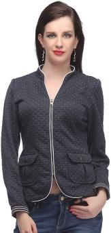 Madame Full Sleeve Solid, Animal Print Women's Jacket