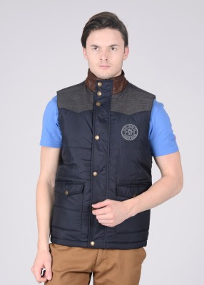 Pepe Pepe Sleeveless Solid Men's Jacket (Blue)
