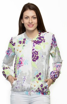 Oxolloxo Floral Print Full Sleeve Printed Women's Quilted Jacket