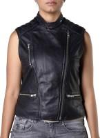 Theo&Ash Sleeveless Solid Women's Motorcycle Jacket