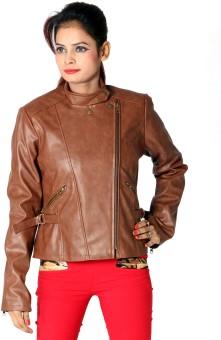 Launcher Biker Full Sleeve Solid Women's Leather Jacket