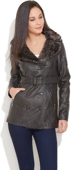 Carapace Full Sleeve Solid Women's Leather Jacket