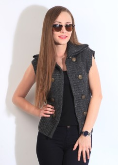 Park Avenue Sleeveless Solid Women Jacket