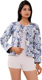 Tinge Of Colors Full Sleeve Floral Print Women's Jacket