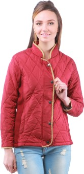 Zupe Stylish Full Sleeve Self Design Women's Quilted Jacket