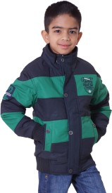 Little Bugs Full Sleeve Striped Boy's Quilted Jacket