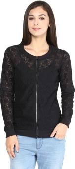 Sf Jeans By Pantaloons Full Sleeve Self Design Women's Net Jacket Jacket