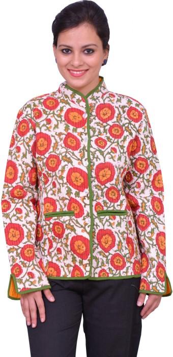 ChhipaPrints Full Sleeve Printed Reversible Women's Quilted Reversible Jacket - JCKEFNPJHAVBXYVF