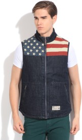 U.S.Polo.Assn Sleeveless Printed Men's Jacket