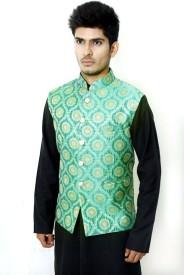 VastraByAshish Sleeveless Embroidered Men's Jacket